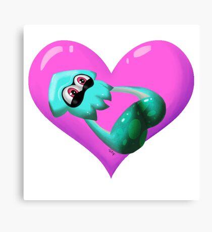 Squid Love Canvas Print
