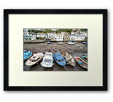 Polperro fishing boats, Cornwall Framed Print