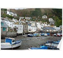 Polperro fishing Village, Cornwall Poster