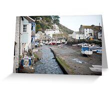 Polperro fishing village, Cornwall Greeting Card