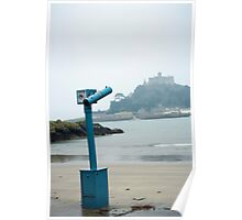 St Michaels Mount in the mist Poster