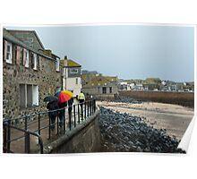 Rainy day at St Ives, Cornwall Poster