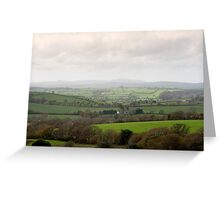 Cornish countryside on a misty day Greeting Card