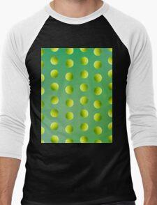 Tennis-ball Pattern Men's Baseball ¾ T-Shirt