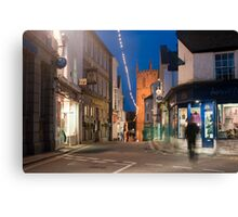 Street scene in St Ives, Cornwall Canvas Print