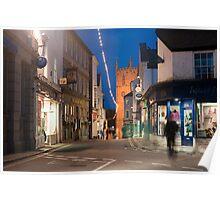 Street scene in St Ives, Cornwall Poster