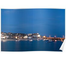 Evening in St Ives, Cornwall Poster