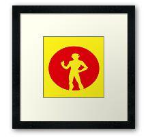 Kid Flash Framed Print