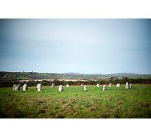 Merry Maidens stone circle Photographic Print