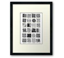 Annotated Mark Making Framed Print