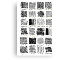 Annotated Mark Making Canvas Print
