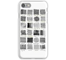 Annotated Mark Making iPhone Case/Skin