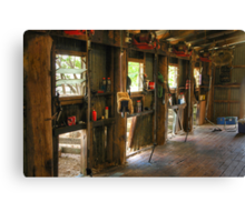 When the shearing shed falls silent ... Canvas Print