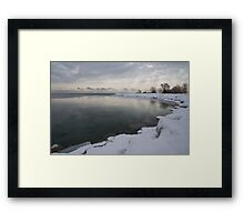 Cold, Gray and Transparent Framed Print