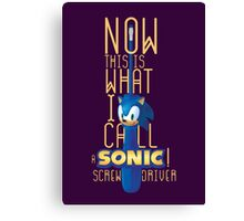 The True Sonic Screwdriver Canvas Print