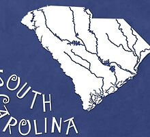 South Carolina State Map by FinlayMcNevin