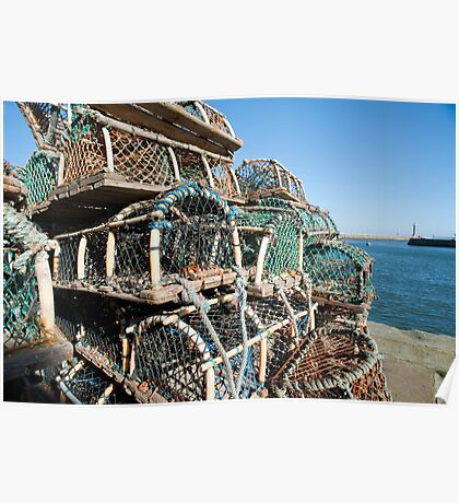 Crab or lobster pots Poster