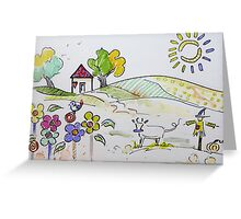 Kids art Greeting Card