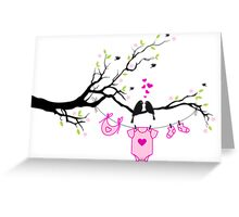 new baby girl, baby shower Greeting Card