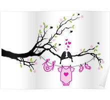 new baby girl, baby shower Poster