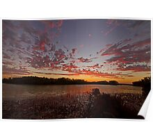 Sunset at the little lagoon Poster