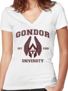 Gondor University Women's Fitted V-Neck T-Shirt