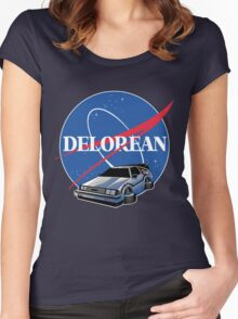 DELOREAN SPACE Women's Fitted Scoop T-Shirt