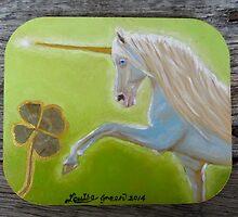 Magical Unicorn - fridge magnet by louisegreen