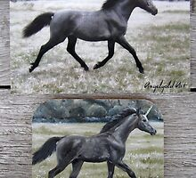 "Unicorn ""Brynne"" - fridge magnet by louisegreen"
