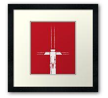 Kylo Ren Lightsaber Framed Print