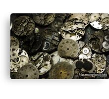 Cogs and Clocks Canvas Print