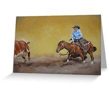 Cutting Horse Greeting Card