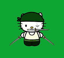 Hello Kitty - Roronoa Zoro (One Piece) by jebez-kali