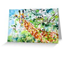 GIRAFFE - watercolor portrait Greeting Card