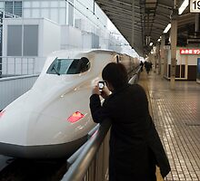 japanese train spotter by photoeverywhere