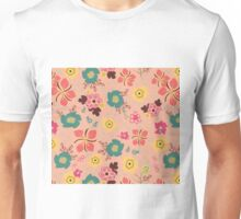 Ditsy Flowers in pink Unisex T-Shirt