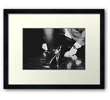 Ecdysiast: behind the scenes 3 Framed Print