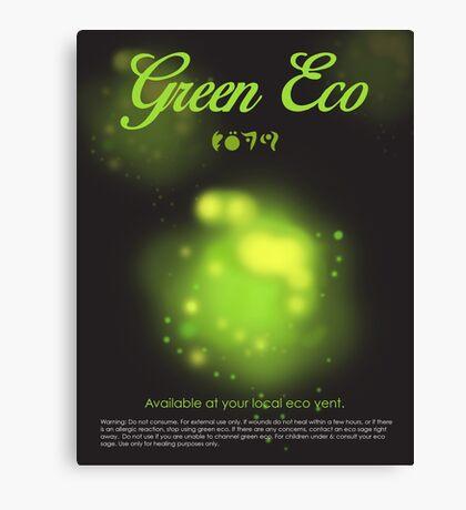 Green Eco Canvas Print