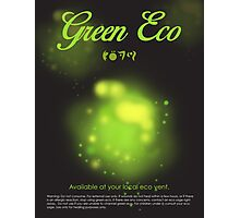 Green Eco Photographic Print