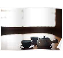 japanese tea pot and cups Poster