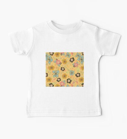 Ditsy Flowers in yellow Baby Tee