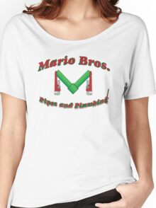 Mario Bros Pipes and Plumbing Women's Relaxed Fit T-Shirt