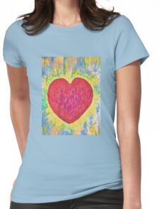 Bursting heart Womens Fitted T-Shirt