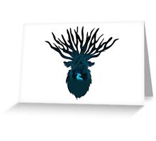 Beast God Greeting Card