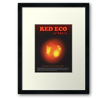 Red Eco Framed Print