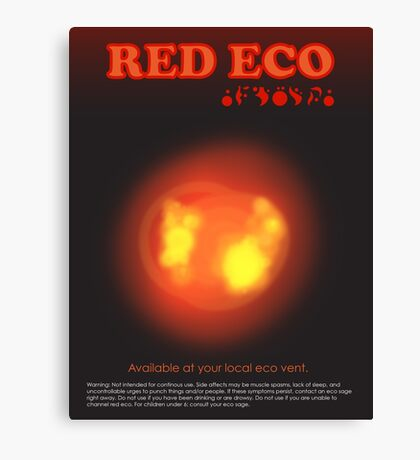 Red Eco Canvas Print