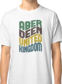 Aberdeen United Kingdom Retro Wave Classic T-Shirt