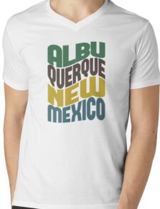 Albuquerque New Mexico Retro Wave Mens V-Neck T-Shirt