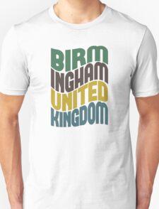 Birmingham United Kingdom Retro Wave T-Shirt