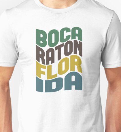 Boca Raton Florida Retro Wave Unisex T-Shirt